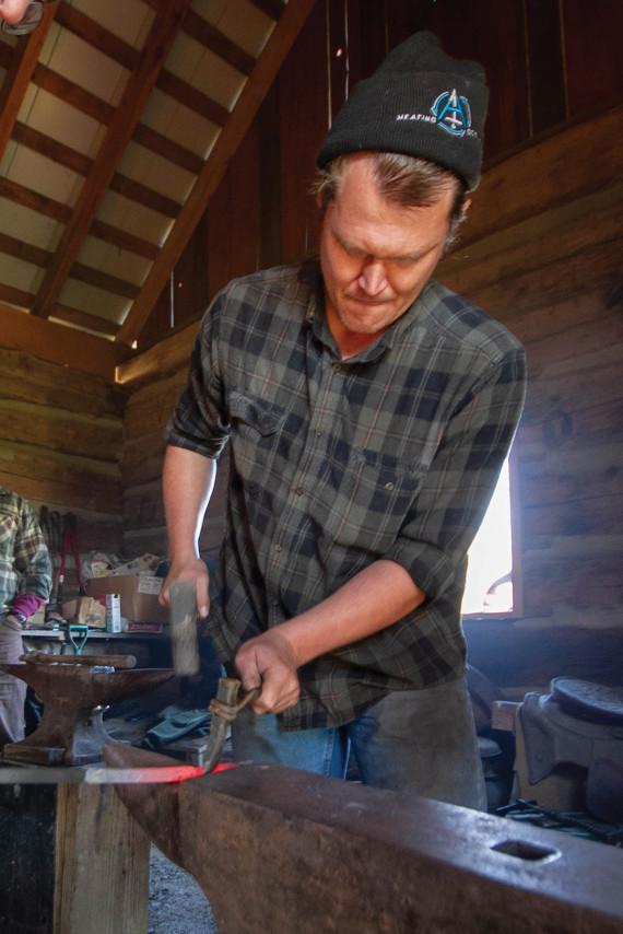 A Colonial Era Man …  Plying A Bronze Age Skill …  in a Digital Age