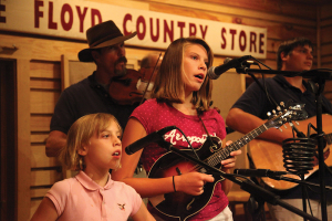 Onstage at the Floyd Country Store